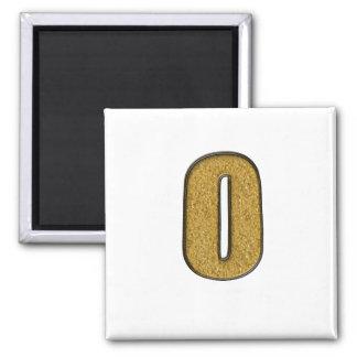 Bling Gold O Refrigerator Magnets