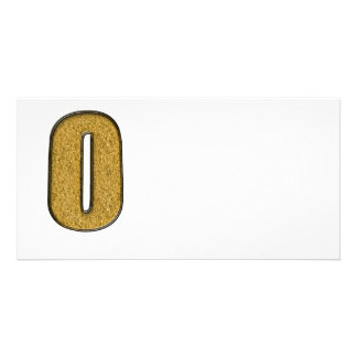 Bling Gold O Photo Card