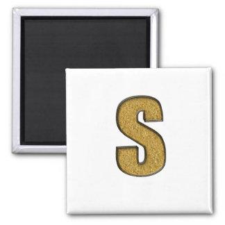 Bling Gold S Refrigerator Magnet