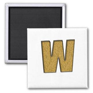 bling Gold W Fridge Magnet