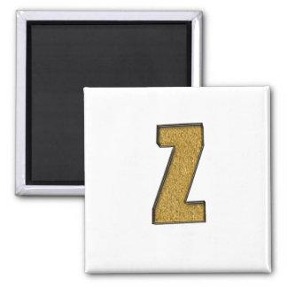 Bling Gold Z Refrigerator Magnets