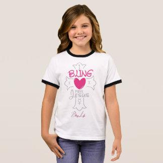 Bling Life Girls I Bling for Jesus Ringer T-Shirt