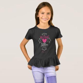 Bling Life Girls I Bling for Jesus Ruffle T-Shirt