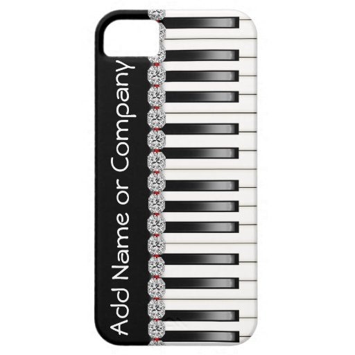 BLING PIANO I Phone 5 Case with  Personalized iPhone 5 Cover