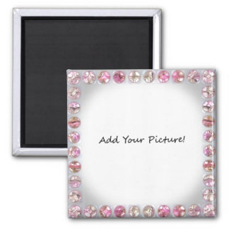 Bling Picture Frame!  Add your own picture. Square Magnet