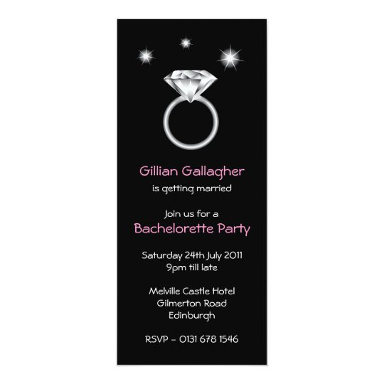 Bling Ring Bachelorette Party Invitation