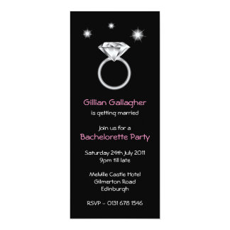 Bling Ring Bachelorette Party Invitation
