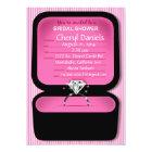 Bling Ring Box Bridal Shower pink Card
