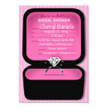 Bling Ring Box Bridal Shower pink Cards