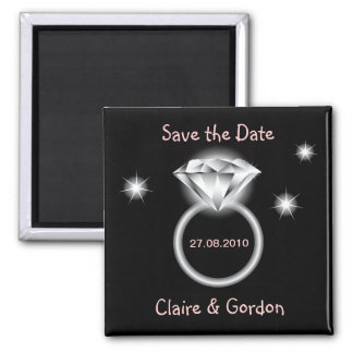Bling Ring Save The Date Magnet