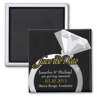 Bling Ring Save the Date Square Magnet