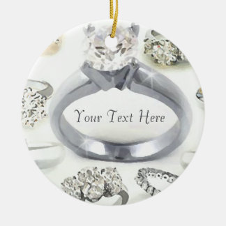 Bling Rings Personalized Ornament