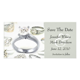 Bling Rings Save The Date Photo Card