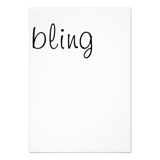 bling, rsvp card