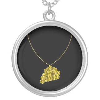 Bling Small Round Pendant Necklace