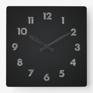 bling square wall clock