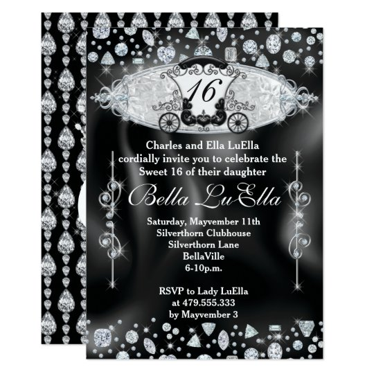 Bling Sweet 16 Party Invitations, Mis Quince Anos