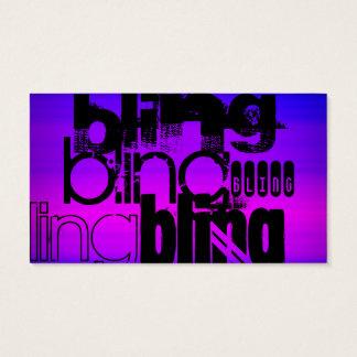 Bling; Vibrant Violet Blue and Magenta Business Card