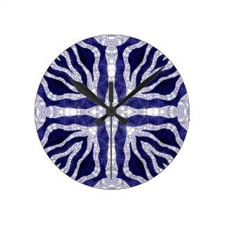 Bling Zebra Round Wall Clock