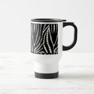 Bling Zebra Pattern Travel Mug