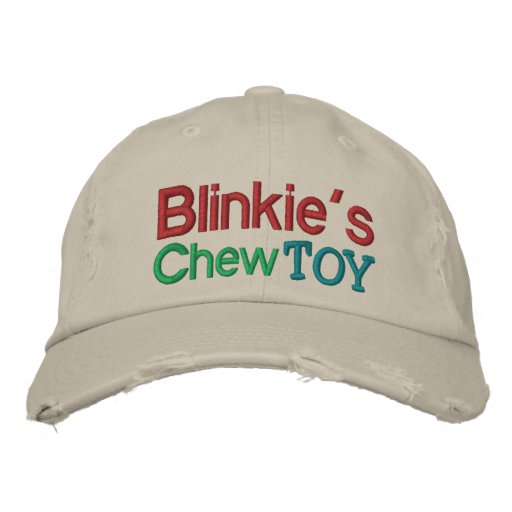 Blinkie's Chew Toy Cap by SRF Embroidered Baseball Caps
