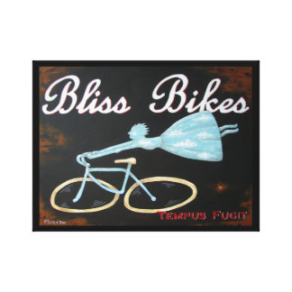 Bliss Bikes Wrapped Canvas by Biddybrain