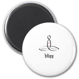 Bliss - Black Sanskrit style Magnet