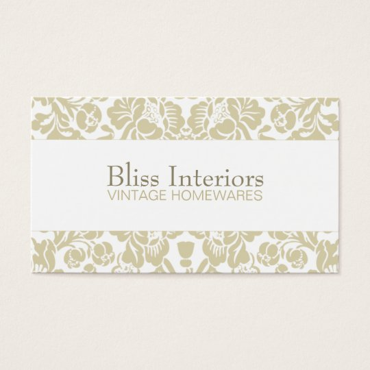 Bliss Chic Damask Floral Business Card