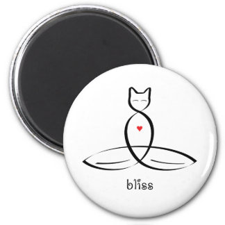 Bliss - Fancy style text. 6 Cm Round Magnet
