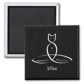 Bliss - Fancy style text. Refrigerator Magnets