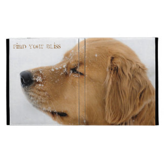 Bliss Golden Retriever iPad Folio Cover