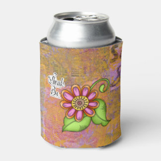 Bliss Positive Thought Doodle Flower Can Cooler