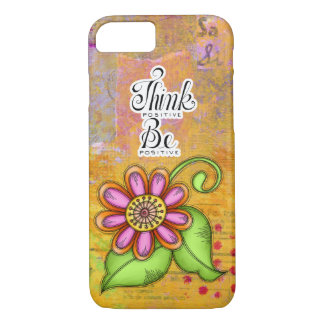 Bliss Positive Thought Doodle Flower iPhone 7 Bare iPhone 8/7 Case