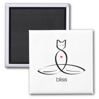 Bliss - Regular style text. Square Magnet