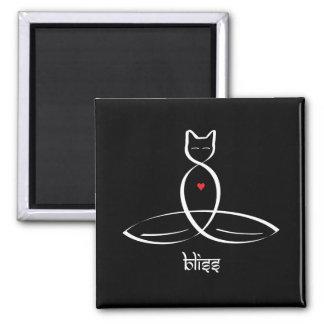 Bliss - Sanskrit style text. Square Magnet