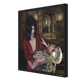 Bliss Vampire Gothic Pop Art Wrapped Canvas Canvas Print