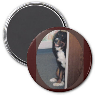 BLISS WAITS PATIENTLY 7.5 CM ROUND MAGNET