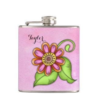 Bliss Watercolor Doodle Flower Flask
