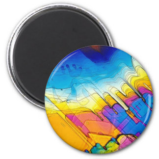 Blissed Out 6 Cm Round Magnet