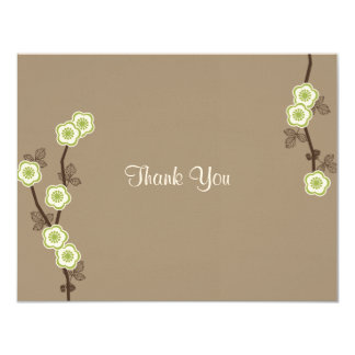 Blissful Blossoms Thank You Card 11 Cm X 14 Cm Invitation Card