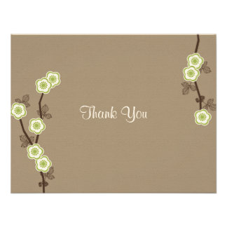 Blissful Blossoms Thank You Card Invitations