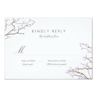Blissful Branches RSVP 9 Cm X 13 Cm Invitation Card