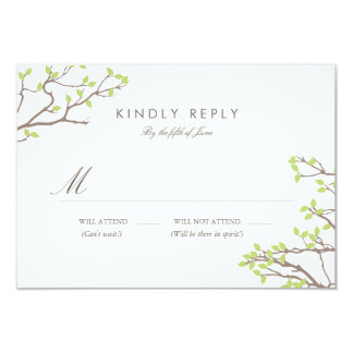 Blissful Branches RSVP 9 Cm X 13 Cm Invitation Card
