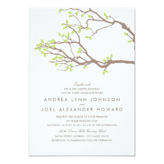 Blissful Branches Wedding 13 Cm X 18 Cm Invitation Card