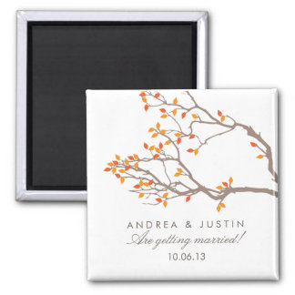 Blissful Branches Wedding Date Magnet