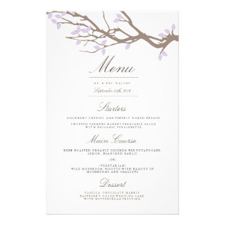 Blissful Branches Wedding Dinner Menu 14 Cm X 21.5 Cm Flyer