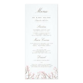 Blissful Branches Wedding Dinner Menu 10 Cm X 24 Cm Invitation Card