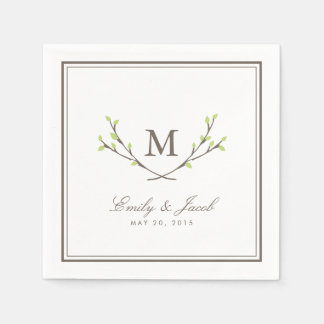 Blissful Branches Wedding Disposable Serviette