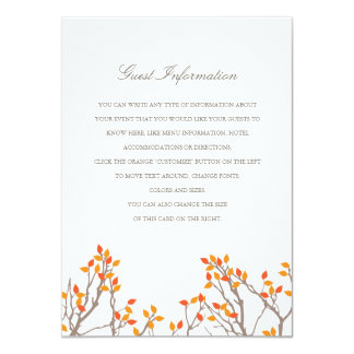 Blissful Branches Wedding Insert Card