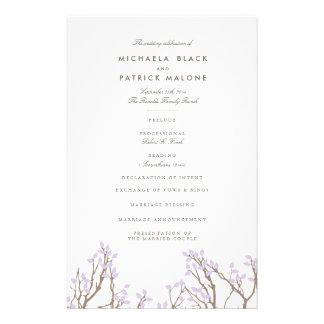 Blissful Branches Wedding Program 14 Cm X 21.5 Cm Flyer